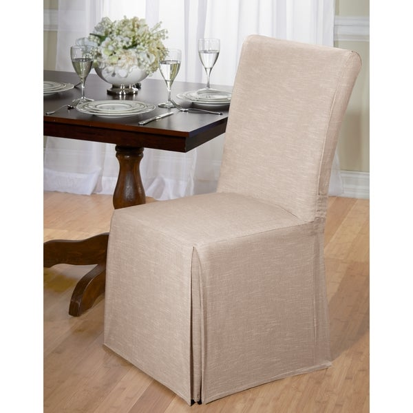 Genial Chambray Cotton Dining Chair Slipcover