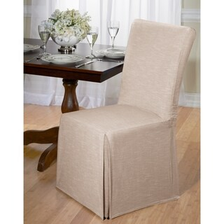 Chambray Cotton Dining Chair Slipcover (3 options available)