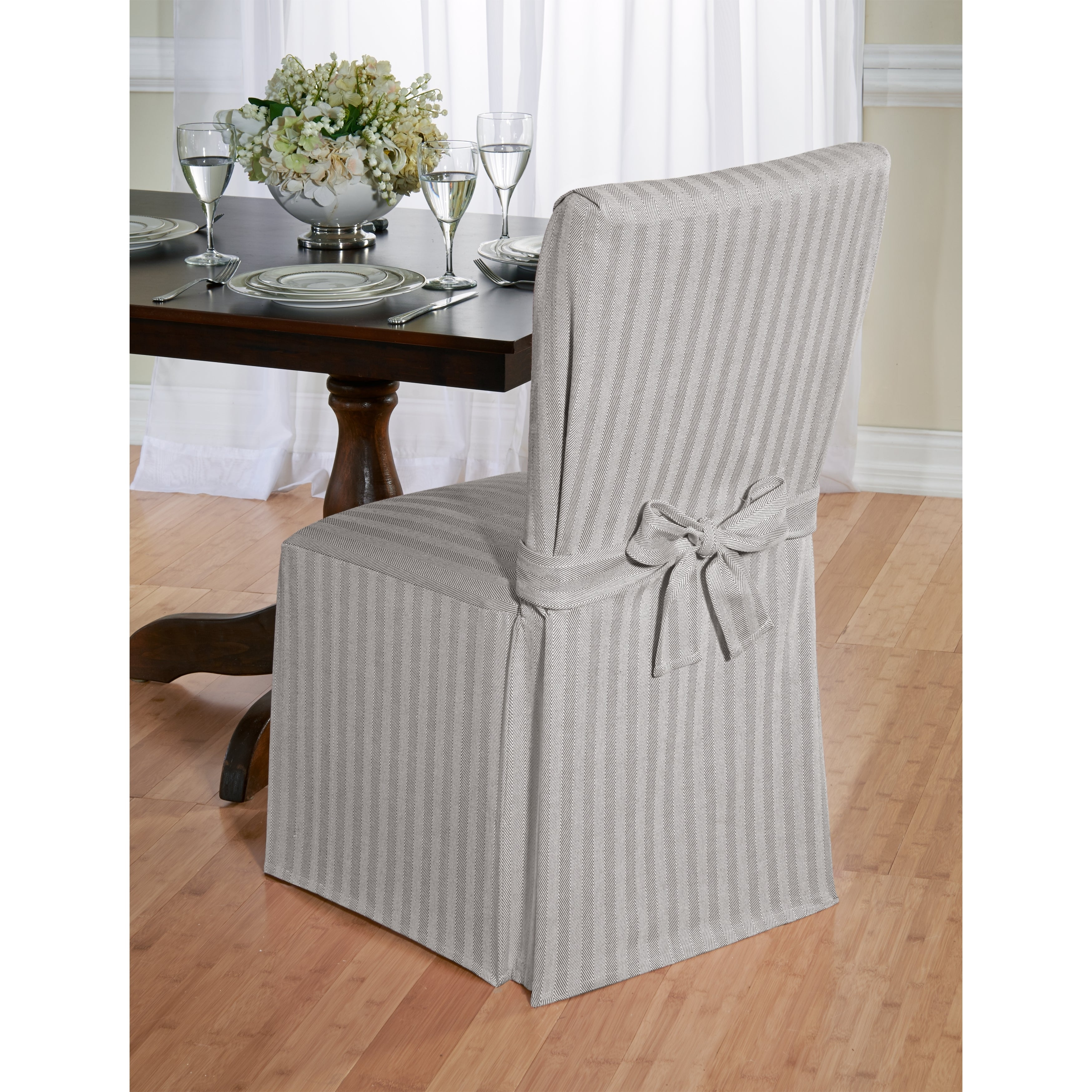 Cotton Herringbone Dining Chair