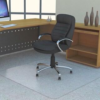 Lorell Polycarbonate Rectangular Studded Chair Mat (4' x 3')