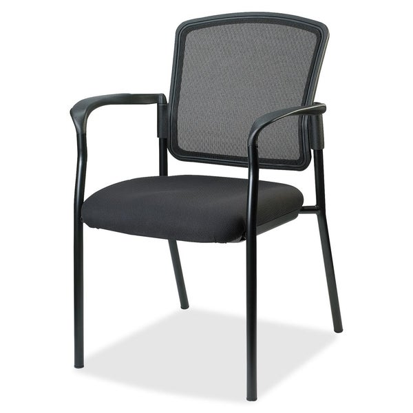 Lorell Breathable Mesh Guest Chair - Black