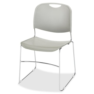 Lorell Lumbar Support Stacking Chair - Grey