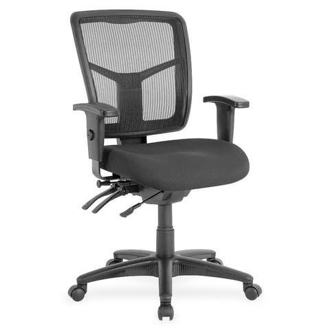 Lorell Managerial Swivel Mesh Mid-back Chair