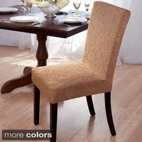 shop quickcover damask embossed stretch velvet 1 piece dining chair