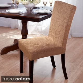 Velvet Damask Stretch Dining Chair Slipcovers. Chair Covers   Slipcovers For Less   Overstock com