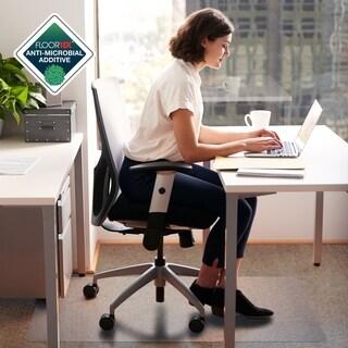 "Anti-Microbial Advantagemat Rectangular Chair Mat for Standard Pile Carpets (3/8"" or less) Size 45"" x 53"""