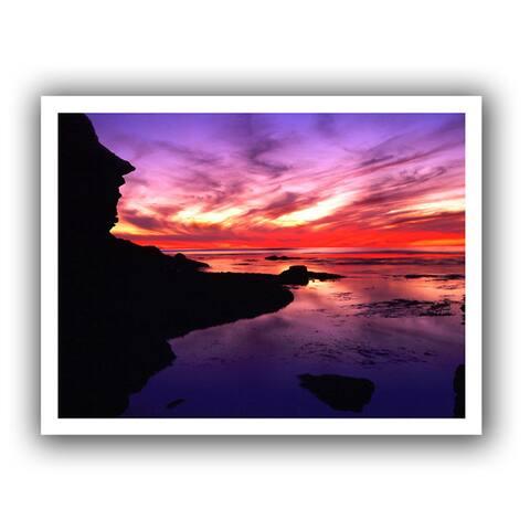 Dean Uhlinger 'Sunset Cliffs Twilight' Unwrapped Canvas - Multi