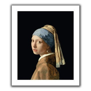 Johannes Vermeer 'Girl with a Pearl Earring' Unwrapped Canvas - Multi