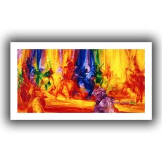Bayo Iribhogbe 'Dance 1, 2000' Unwrapped Canvas - Multi