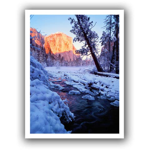 Dean Uhlinger 'Winter Paradise' Unwrapped Canvas