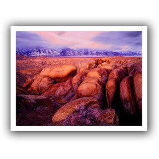 Dean Uhlinger 'Sierra Dawn Storm Light' Unwrapped Canvas - Multi