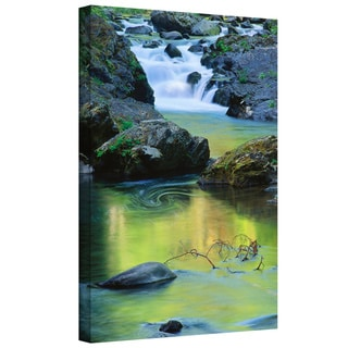 Dean Uhlinger 'Sol Duc River reflections' Gallery-wrapped Canvas