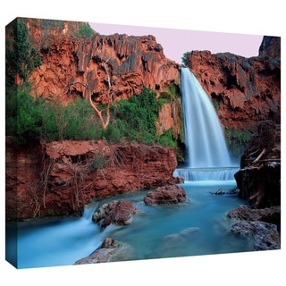Dean Uhlinger 'Havasu Falls Dusk' Gallery-wrapped Canvas - Multi