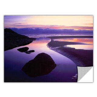 Dean Uhlinger 'Fog Bank Sunset' Removable Wall Art