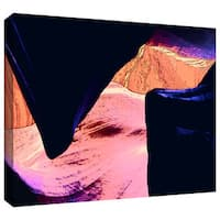 Dean Uhlinger 'Geometric Erosion' Gallery-wrapped Canvas