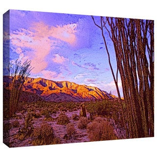 Dean Uhlinger 'Ocotillo Sunset' Gallery-wrapped Canvas