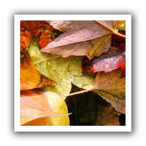 Dean Uhlinger 'Fall Impression 7' Unwrapped Canvas