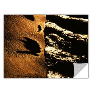 Dean Uhlinger 'Sand and Surf at Sunset' Removable Wall Art