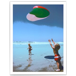 Dean Uhlinger 'Beach Day 2' Unwrapped Canvas - Multi