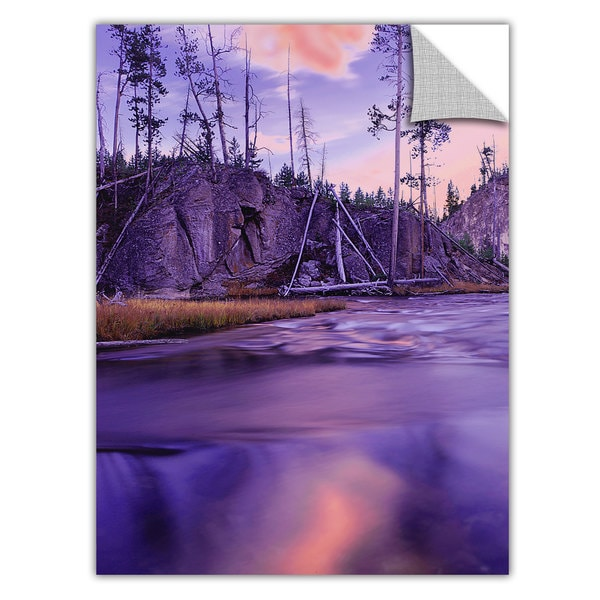 Dean Uhlinger 'Gibbon River Twilight' Removable Wall Art