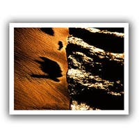 Dean Uhlinger 'Sand and Surf at Sunset' Unwrapped Canvas - Multi