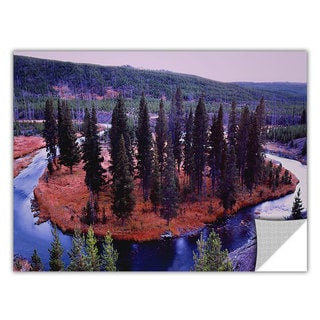 Dean Uhlinger 'Dusk Meander Yellowstone' Removable Wall Art