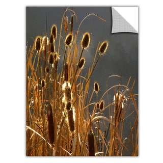 Dean Uhlinger 'Cattails and Storm Light' Removable Wall Art