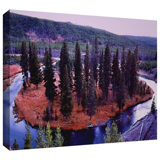 Dean Uhlinger 'Dusk Meander Yellowstone' Gallery-wrapped Canvas