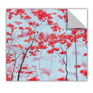 Herb Dickinson 'Red Forest' Removable Wall Art