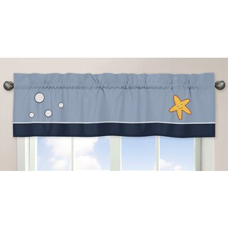 Sweet Jojo Designs Blue, Navy, Red, Orange, Yellow and White Ocean Blue Collection 54-inch x 15-inch
