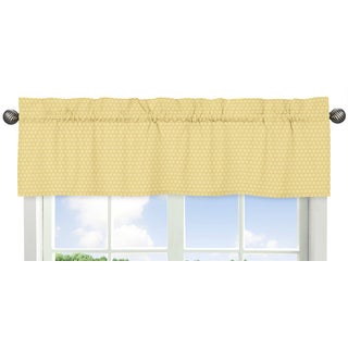 Sweet Jojo Designs Yellow 54-inch x 15-inch Window Treatment Curtain Valance for Honey Bee Collection