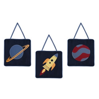 Sweet Jojo Designs Space Galaxy Wall Hanging (Set of 3)