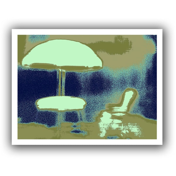 Dean Uhlinger 'Summer through the Screen' Unwrapped Canvas - Multi