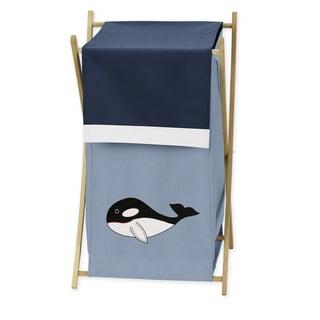 Sweet Jojo Designs Ocean Blue Laundry Hamper
