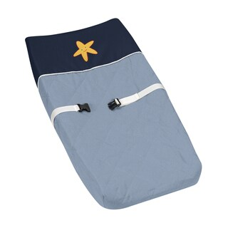 Sweet Jojo Designs Ocean Blue Changing Pad Cover