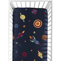 Sweet Jojo Designs Space Galaxy Fitted Crib Sheet