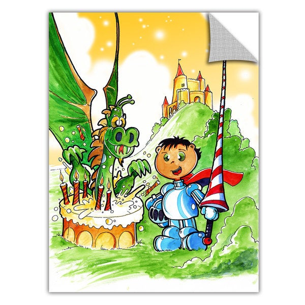 Luis Peres 'Knight Kid' Removable Wall Art