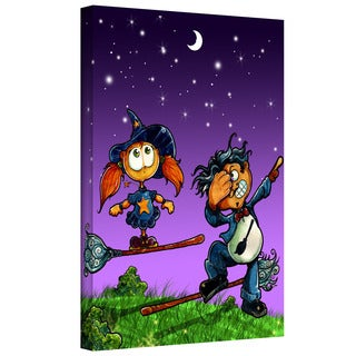 Luis Peres 'Learning to Fly 1' Gallery-wrapped Canvas