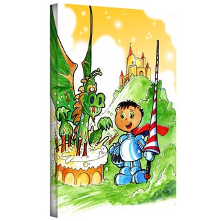 Luis Peres 'Knight Kid' Gallery-wrapped Canvas