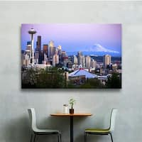 Cody York 'Seattle and Mt. Rainier 2' Gallery-wrapped Canvas