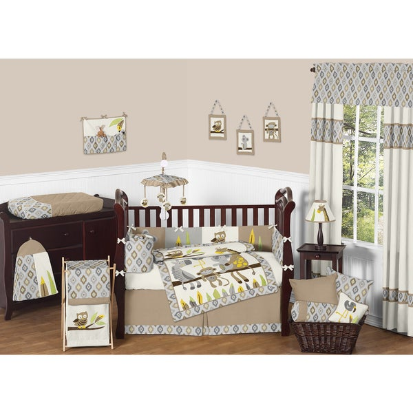 sweet jojo designs safari outback 9 piece crib bedding set. Black Bedroom Furniture Sets. Home Design Ideas