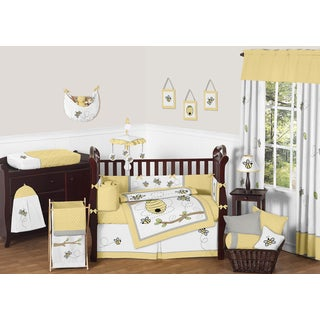 Sweet Jojo Designs Honey Bumble Bee 9-piece Crib Bedding Set