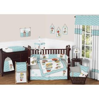 Sweet Jojo Designs Balloon Buddies 9-piece Crib Bedding Set