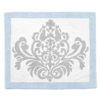 Sweet Jojo Designs Grey and Blue Avery Accent Floor Rug (2'6 x 3)