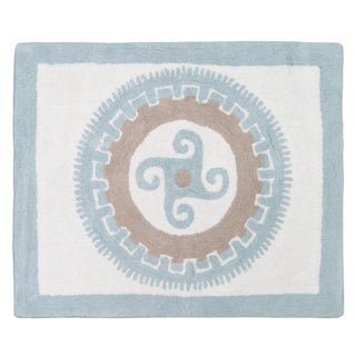 Sweet Jojo Designs Blue and Taupe Accent Floor Rug (2'6 x 3')