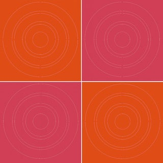WallPops Pink/ Orange Circles Peel and Stick Kid's Wall Decals (Set of 4)