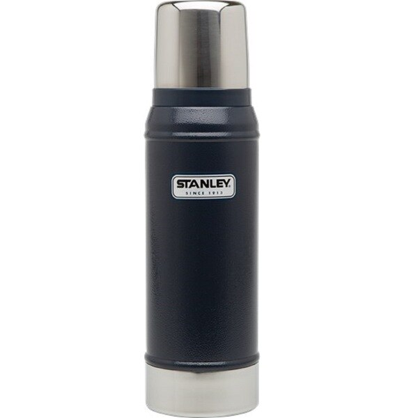 Stanley Classic 25-ounce Vacuum Bottle, Hammertone Navy