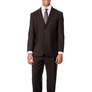 Caravelli Italy Men's Big & Tall 'Super 150' Brown 2-button Suit (Option: 60r)|https://ak1.ostkcdn.com/images/products/9544467/P16725310.jpg?impolicy=medium