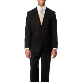 Caravelli Italy Men's Big & Tall 'Super 150' Black 2-button Suit (As Is Item)