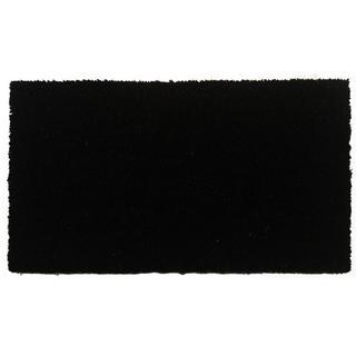 Black Beauty Coir with Vinyl Backing Doormat (1'5 X 2'5)